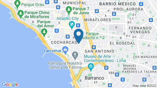 Hilton Lima Miraflores Map
