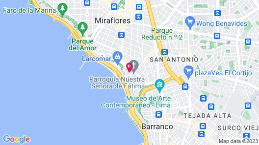 Miraflores Luxury House Map