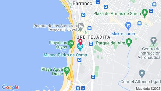 Trendy Host Osma, Barranco Map