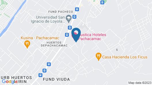 Hotel Rustica Pachacamac Map