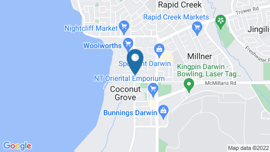 Coconut Grove Holiday Apartments Map