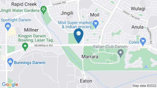 Quality Hotel Darwin Airport Map
