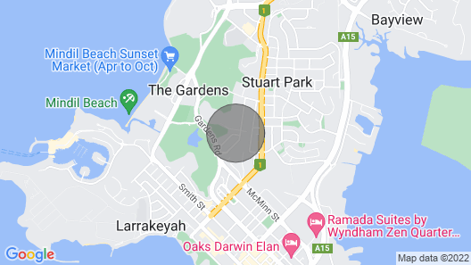 4 Bedroom Gardens Escape / Champagne Stays Darwin Map