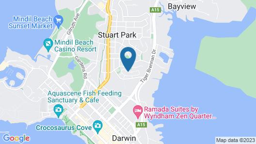Darwin City Lights Jacuzzi Map
