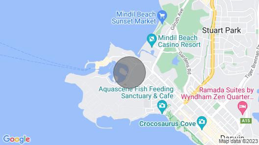 LARRAKEYAH PALMS — Darwin luxury on Cullen Bay Marina with Pool Map