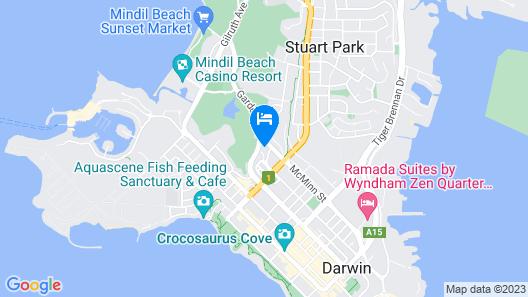 Frontier Darwin Hotel Map