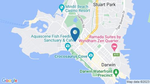 Peninsula Apartments Darwin Map