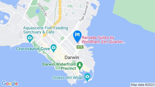 Ramada Suites by Wyndham Zen Quarter Darwin Map