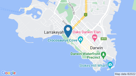 DoubleTree by Hilton Darwin Map