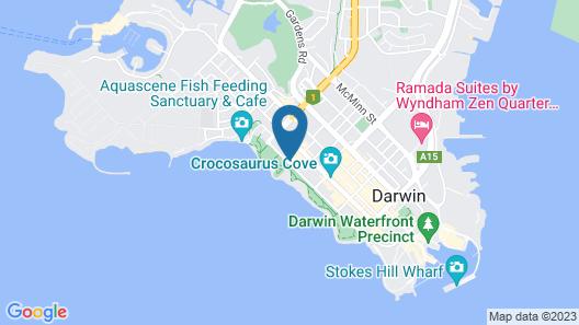 DoubleTree by Hilton Darwin Esplanade Map