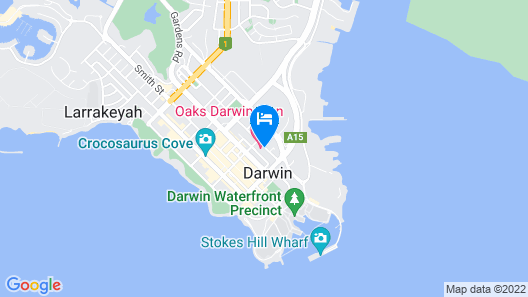 Oaks Darwin Elan Hotel Map