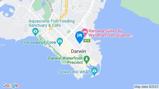 Argus Apartments Darwin Map