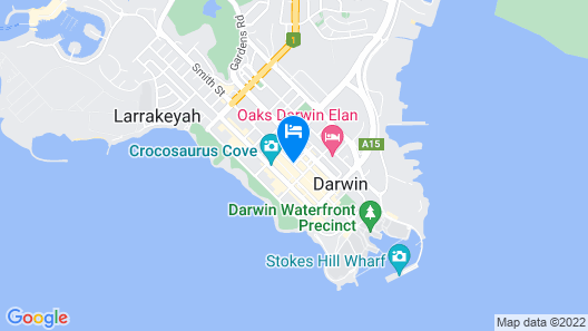 Darwin City Hotel Map
