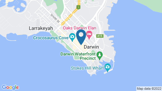 Rydges Darwin Central Map