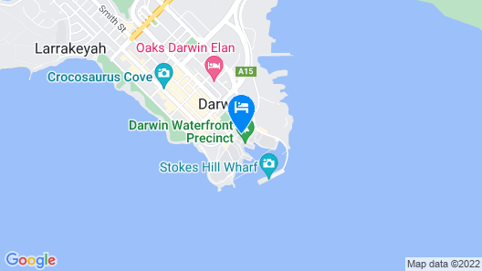 Vibe Hotel Darwin Waterfront Map