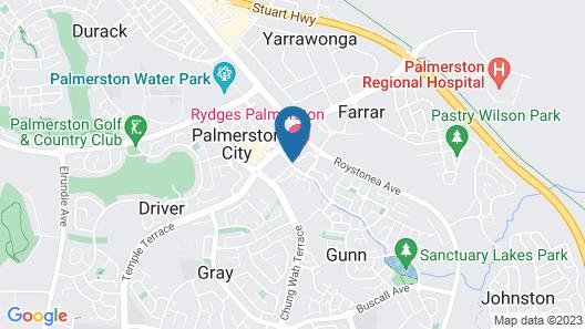 Rydges Palmerston - Darwin Map