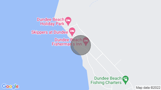 THE Beach Shack on the Waterfront Close to the Lodge of Dundee Map