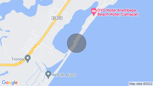 Haus High Standard 4 Suiten Pe na Areia in Lakes Beach (Interlagos) - BA  Map
