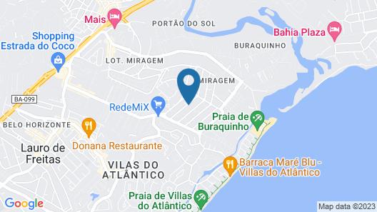 Village Rustico Vilas do Atlantico - Bahia! In Flughafennähe Map