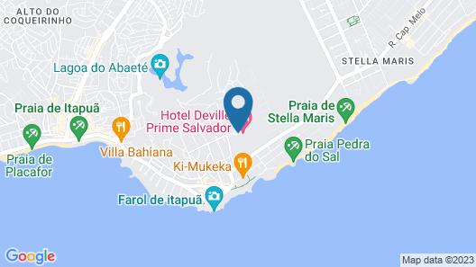 Hotel Deville Prime Salvador Map
