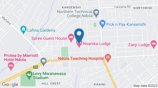 Nsanika Executive Lodge Map
