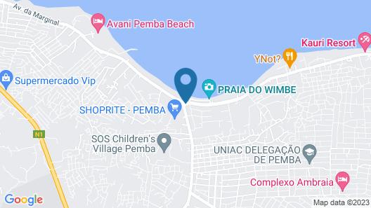 The Nautilus Pemba Hotel Map