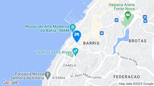 Wish Hotel da Bahia Map