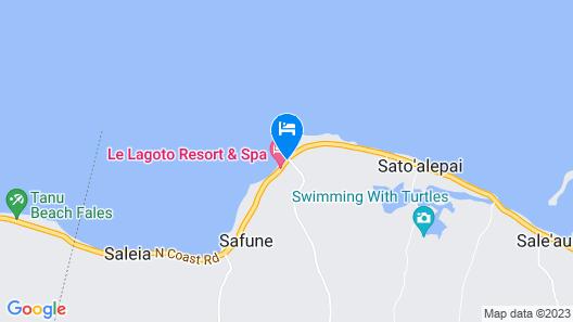 Le Lagoto Resort & Spa Map