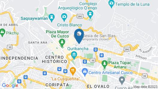 Antigua Casona San Blas Map