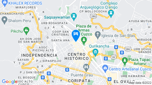 Ramada Costa Del Sol Cusco Map