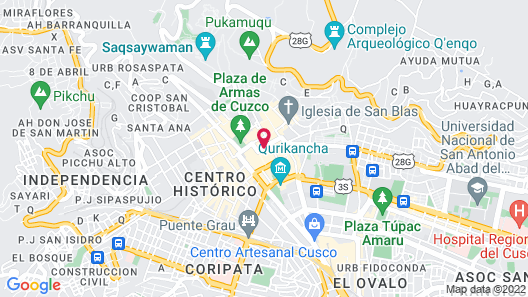 MOAF Cusco Boutique Hotel Map