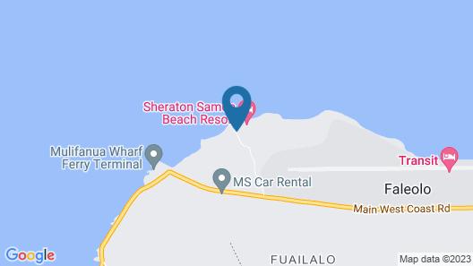 Sheraton Samoa Beach Resort Map