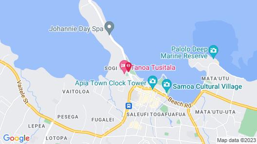 Tanoa Tusitala Hotel Map