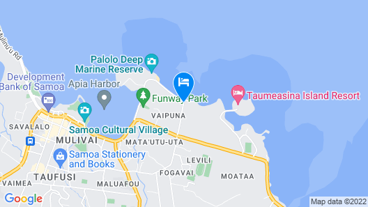Vaiala Beach Cottages Map