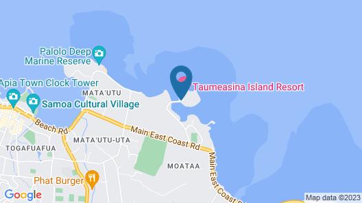 Taumeasina Island Resort Map
