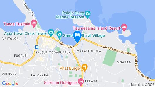 Sheraton Samoa Aggie Grey's Hotel & Bungalows Map