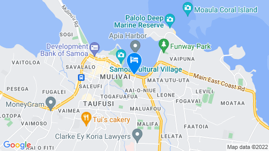 Lava Hotel Apia Map