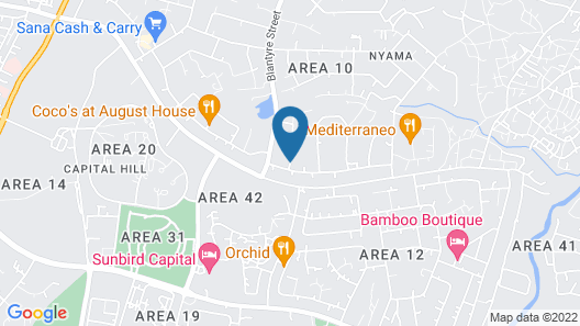 Annie's Lodge Lilongwe Area 10 Map