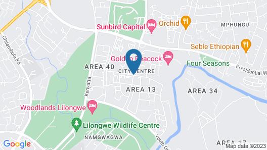 Crossroads Hotel Lilongwe Map