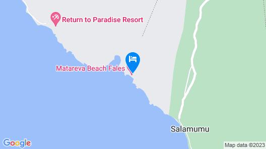 Matareva Beach Fales Map
