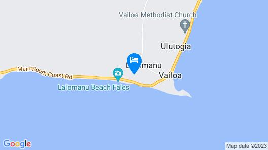 Taufua Beach Fales Map