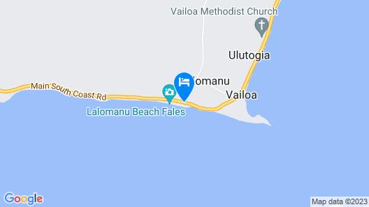 Litia Sini Beach Fales Map