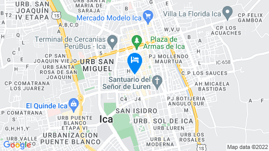 Gran Hotel Ica Map