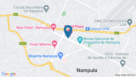 Grand Plaza Hotel Nampula Map