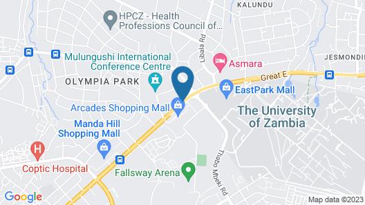 Radisson Blu Hotel Lusaka Map