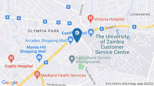 Protea Hotel by Marriott Lusaka Map