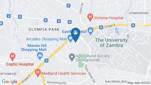 Protea Hotel by Marriott Lusaka Tower Map