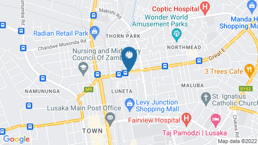 Best Western Plus Lusaka Grand Hotel Map
