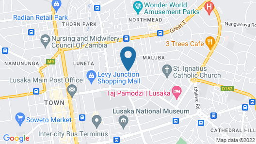 Lusaka Backpackers Map