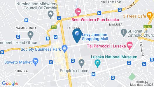 StayEasy Lusaka Map
